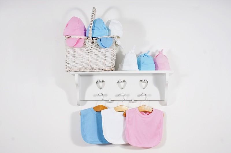 Velcro Strap Cotton Bib - Pastel Colours - Cute & Cuddly ...
