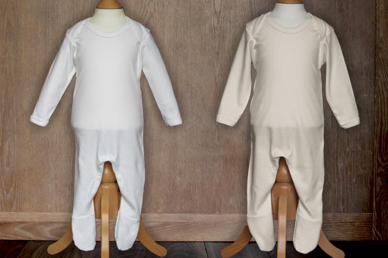 f099ba7bd4f Organic Plain Front Sleepsuit - Cute   Cuddly Babywear