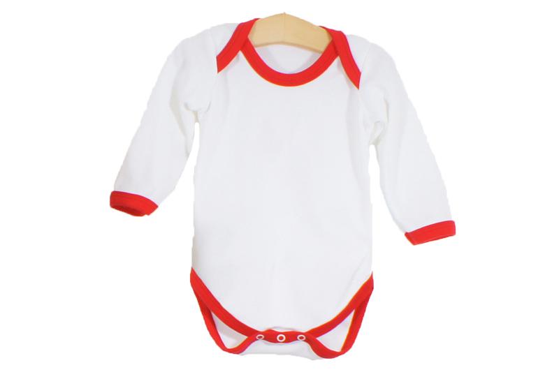 Long Sleeve White Contrast Trim Bodysuit - Cute & Cuddly ...