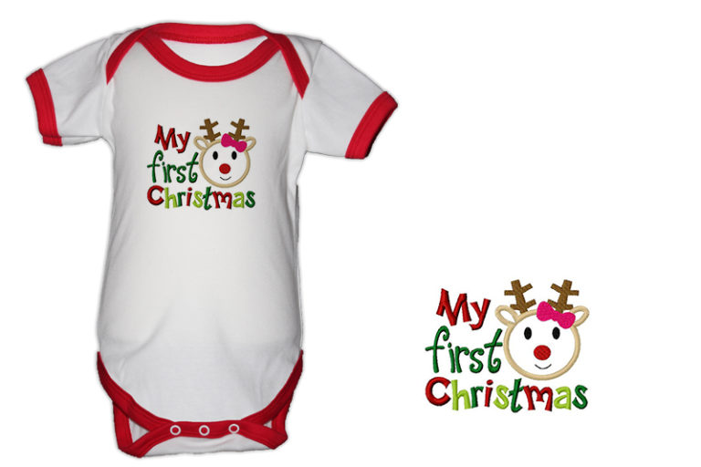 First Christmas.My First Christmas Bodysuit